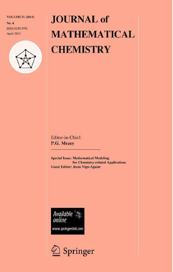 Professor Guirao joints the Editorial Board of Journal of Mathematical Chemistry